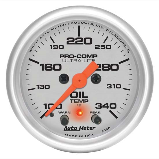 Auto Meter 4340 Ultra-Lite Digital Stepper Motor Oil Temperature Gauge