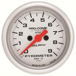 Auto Meter 4344-M Ultra-Lite Digital Stepper Motor Pyrometer Gauge