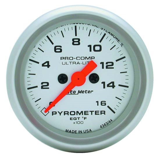 Auto Meter 4344 Ultra-Lite Digital Stepper Motor Pyrometer Gauge