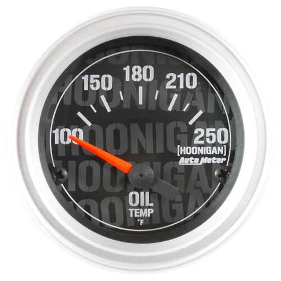 Auto Meter 4347-09000 Hoonigan Oil Temp Gauge, 2-1/16, 100-250 Deg.
