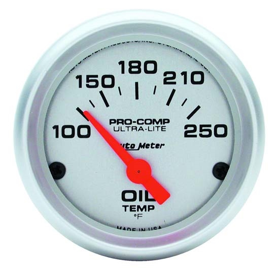 Auto Meter 4347 Ultra-Lite Air-Core Oil Temperature Gauge, 2-1/16 Inch