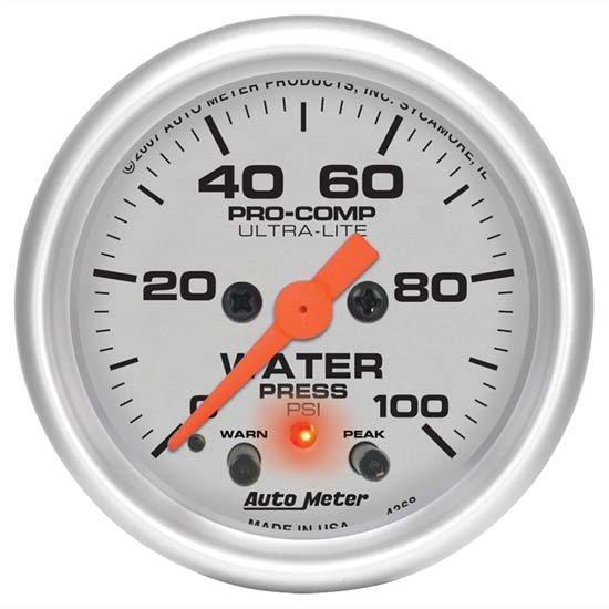 Auto Meter 4368 Ultra-Lite Digital Stepper Motor Water Pressure Gauge