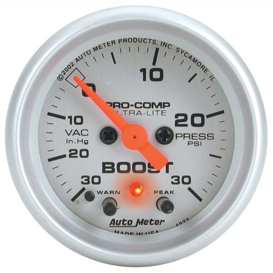 Auto Meter 4377 Ultra-Lite Digital Stepper Motor Boost/Vacuum Gauge