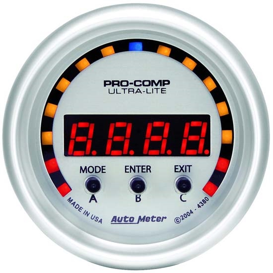 AutoMeter 4380 Ultra-Lite Digital D-PIC Performance Meter Gauge