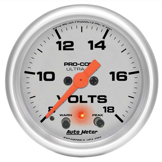 Auto Meter 4383 Ultra-Lite Digital Stepper Motor Voltmeter Gauge