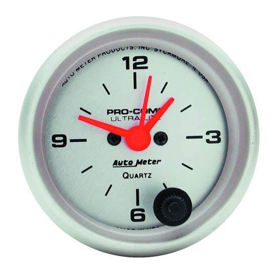 AutoMeter 4385 Ultra-Lite Quartz Clock Gauge, 2-1/16 Inch
