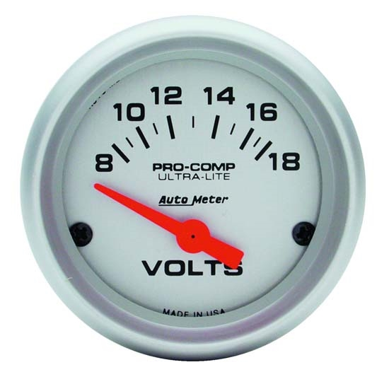 AutoMeter 4391 Ultra-Lite Air-Core Voltmeter Gauge, 2-1/16 Inch