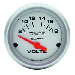 Auto Meter 4391 Ultra-Lite Air-Core Voltmeter Gauge, 2-1/16 Inch
