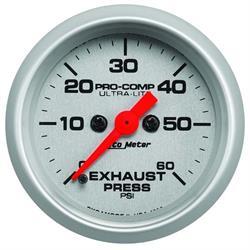 Auto Meter 4392 Ultra-Lite Digital StepperMotor Exhaust Pressure Gauge