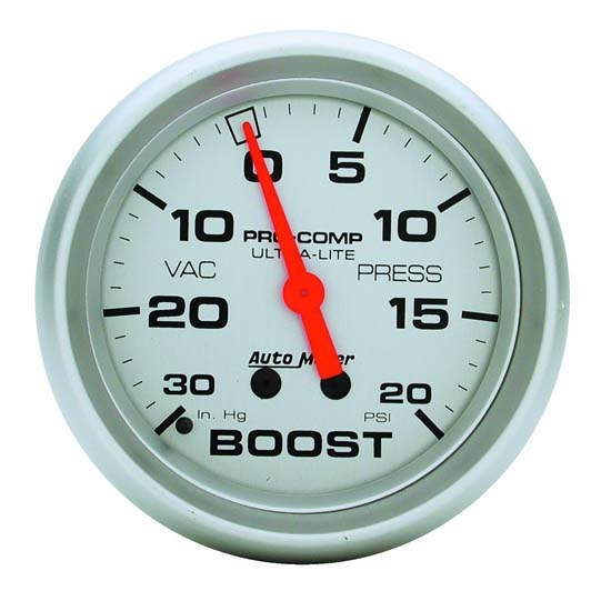 Auto Meter 4401 Ultra-Lite Mechanical Boost/Vacuum Gauge, 2-5/8 Inch