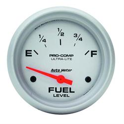 Auto Meter 4414 Ultra-Lite Air-Core Fuel Level Gauge, 2-5/8 Inch