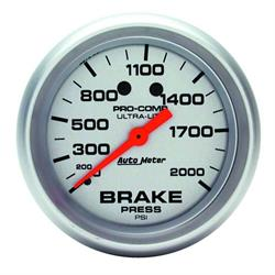Auto Meter 4426 Ultra-Lite Mechanical Brake Pressure Gauge, 2-5/8 Inch