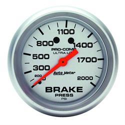Auto Meter 4426 Ultra-Lite Mechanical Brake Pressure Gauge, 2-5/8 Inch