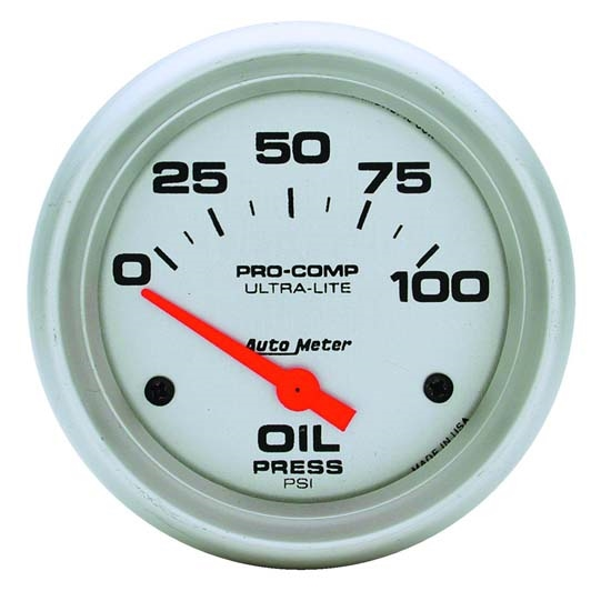 Auto Meter 4427 Ultra-Lite Air-Core Oil Pressure Gauge, 100 PSI, 2-5/8