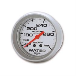 Auto Meter 4431 Ultra-Lite Mechanical Water Temperature Gauge, 2-5/8
