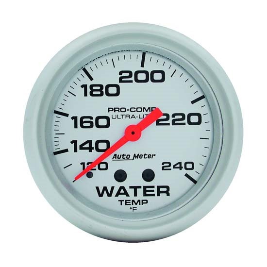 Auto Meter 4432 Ultra-Lite Mechanical Water Temperature Gauge, 2-5/8