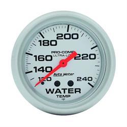 Auto Meter 4432 Ultra-Lite Mechanical Water Temperature Gauge, 2-5/8