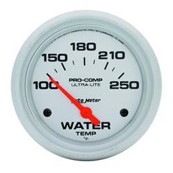 Auto Meter 4437 Ultra-Lite Air-Core Water Temperature Gauge, 2-5/8