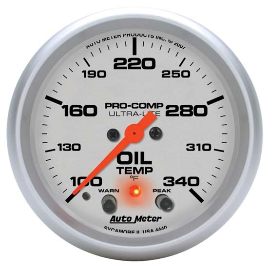 Auto Meter 4440 Ultra-Lite Digital Stepper Motor Oil Temperature Gauge
