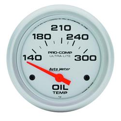Auto Meter 4447 Ultra-Lite Air-Core Oil Temperature Gauge, 2-5/8 Inch