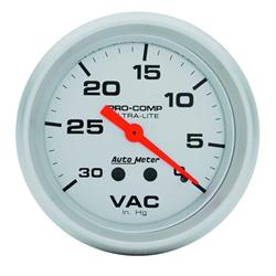 Auto Meter 4484 Ultra-Lite Mechanical Vacuum Gauge, 2-5/8 Inch