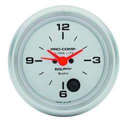 Auto Meter 4485 Ultra-Lite Quartz Clock Gauge, 2-5/8 Inch