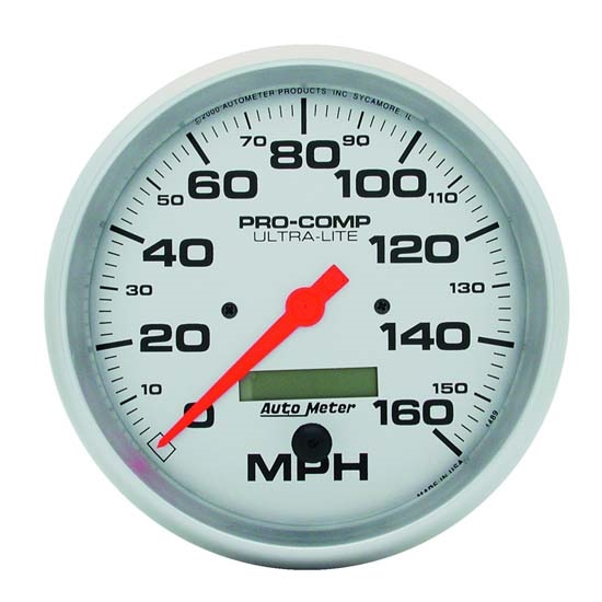 Auto Meter 4487 Ultra-Lite Air-Core Speedometer, 120 MPH, 3-3/8 Inch
