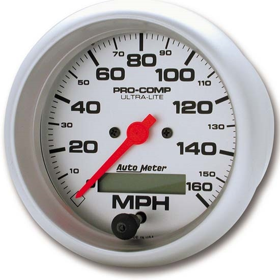 Auto Meter 4488 Ultra-Lite Air-Core Speedometer, 160 MPH, 3-3/8 Inch