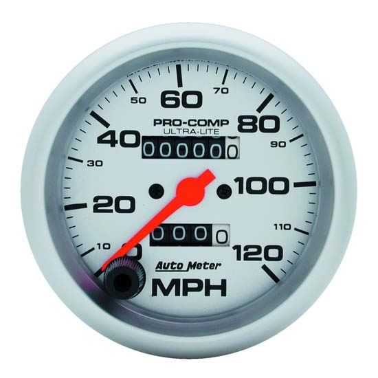 Auto Meter 4492 Ultra-Lite Mechanical Speedometer, 120 MPH, 3-3/8 Inch
