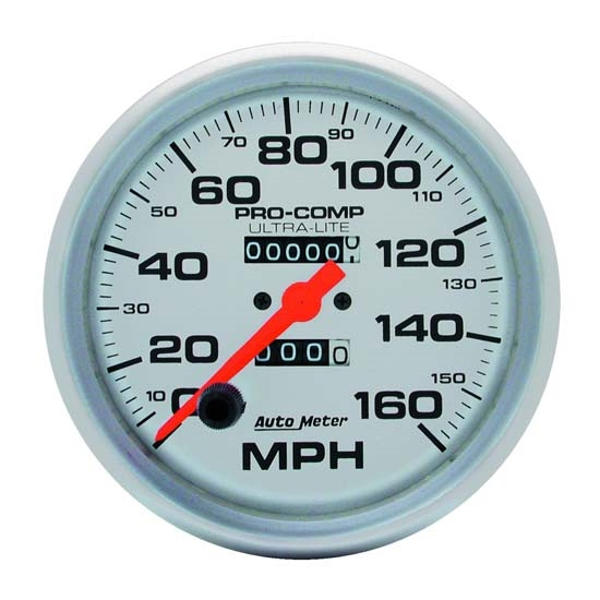 AutoMeter 4495 Ultra-Lite Mechanical Speedometer, 160 MPH, 5 Inch