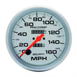 Auto Meter 4495 Ultra-Lite Mechanical Speedometer, 160 MPH, 5 Inch