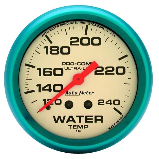 Auto Meter 4532 Ultra-Nite Mechanical Water Temperature Gauge