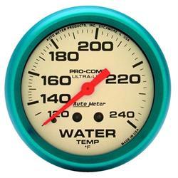 Auto Meter 4532 Ultra-Nite Mechanical Water Temperature Gauge