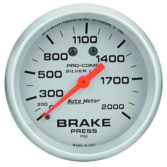 Auto Meter 4626 Ultra-Lite Mechanical Brake Pressure Gauge, 2-5/8 Inch