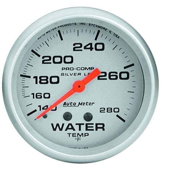 AutoMeter 4631 Ultra-Lite Mechanical Water Temp. Gauge, 2-5/8