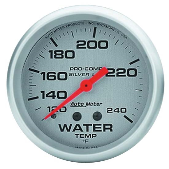 Auto Meter 4632 Ultra-Lite Mechanical Water Temperature Gauge, 2-5/8