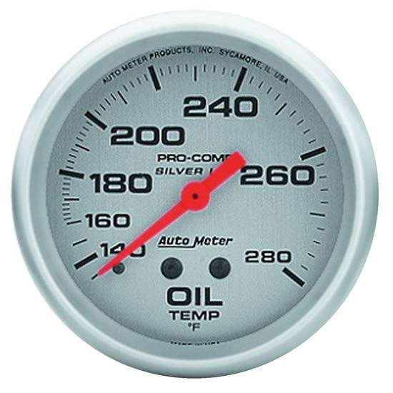 Auto Meter 4641 Ultra-Lite Mechanical Oil Temperature Gauge, 2-5/8