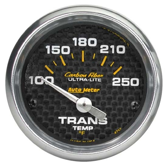 Auto Meter 4757 Carbon Fiber Air-Core Transmission Temperature Gauge