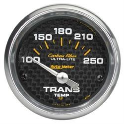 Auto Meter 4757 Carbon Fiber Air-Core Transmission Temperature Gauge
