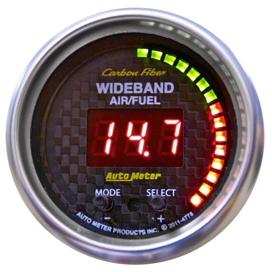 Auto Meter 4778 Carbon Fiber Digital Wideband Air/Fuel Ratio Gauge