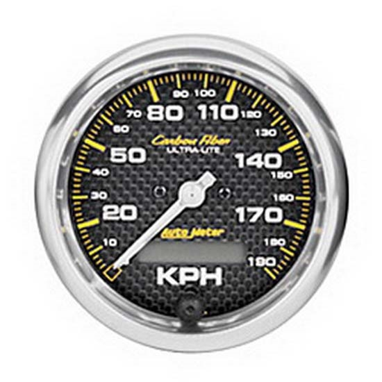 Auto Meter 4787-M Carbon Fiber Air-Core Speedometer Gauge, 3-3/8 Inch