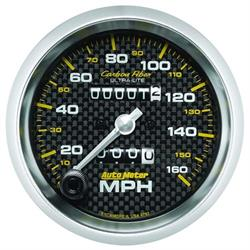 AutoMeter 4793 Carbon Fiber Mechanical Speedometer Gauge, 3-3/8