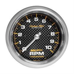 Auto Meter 4798 Carbon Fiber Air-Core In-Dash Tachometer Gauge