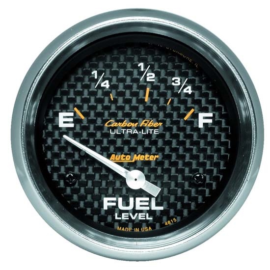Auto Meter 4815 Carbon Fiber Air-Core Fuel Level Gauge, 2-5/8 Inch