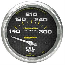 Auto Meter 4848 Carbon Fiber Air-Core Oil Temperature Gauge