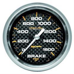 Auto Meter 4867 Carbon Fiber Digital Stepper Motor Brake Press. Gauge