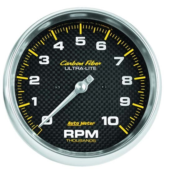 Auto Meter 4898 Carbon Fiber Air-Core In-Dash Tachometer Gauge