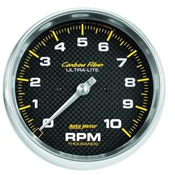 AutoMeter 4898 Carbon Fiber Air-Core In-Dash Tachometer Gauge