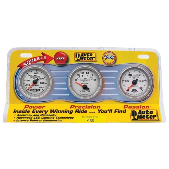 Auto Meter 4900 Ultra-Lite II Interact Pack Mechanical Gauge Set
