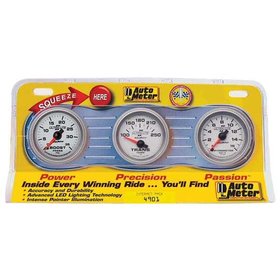 Auto Meter 4901 Ultra-Lite II Interact Pack Diesel Gauge Set